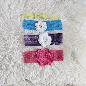 Other - Lot of 4 OS baby girls headbands
